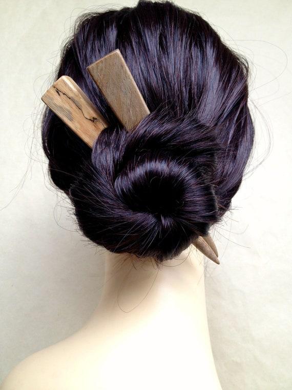 Hair Sticks Banyan Wood Chunky