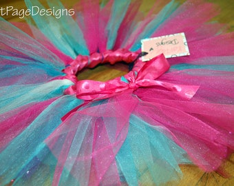 Child's Tutu - Multi Pink with Turq