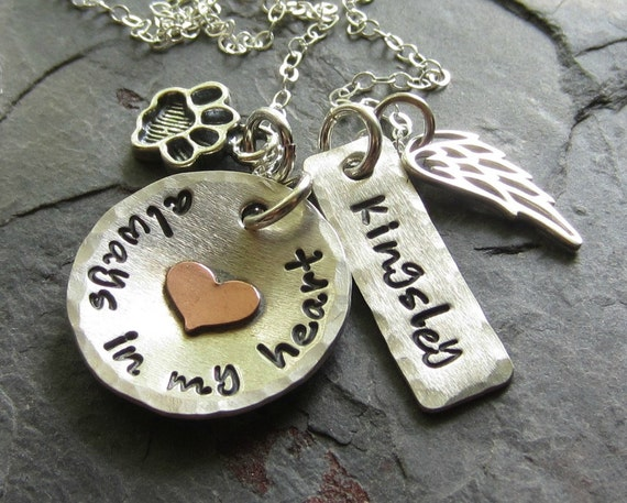 Pet Memorial Personalized Hand Stamped Dog Remembrance