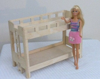 Unfinished Barbie doll Bunk bed ready to paint