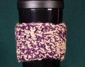 Purple Gold Cozy- perfect for your travel mugs