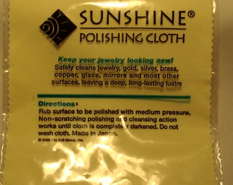 Yellow Cleaning and Polishing Cloth for Silver, brass,copper,glass & Gold Jewellery