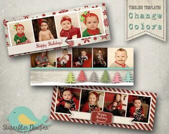 Christmas Facebook Timeline Templates - Timeline 3 Pack Christmas