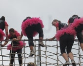 Mud Run Tutu Skirt Ladies Women Teen Marathon Color Run Tough Mudder Runners Sewn Fuchsia Costume Love by American Blossoms