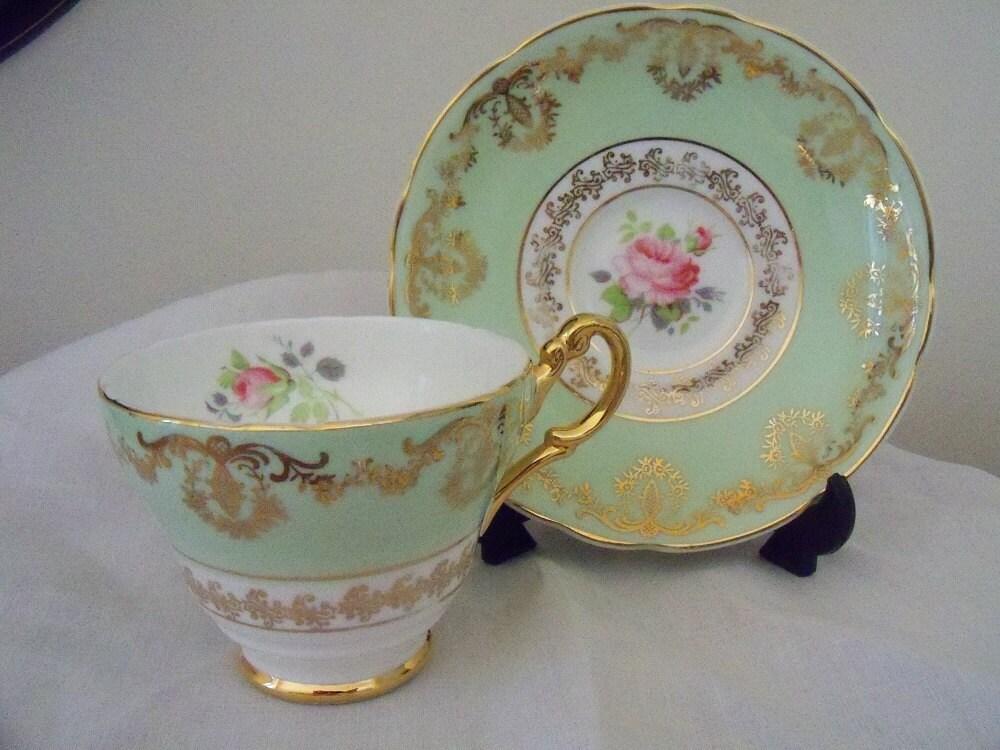 Vintage Teacup Set Leonard St Pottery Burslem England