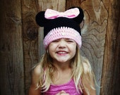 Minnie Mouse beanie child size