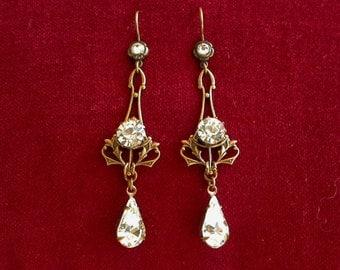 Swarovski Crystal Earrings Swarovski Bridal  Earrings Wedding Earrings Bridal Wedding Jewelry