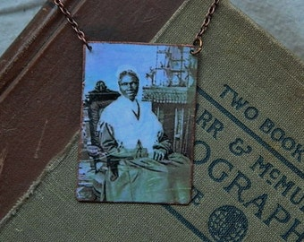 Sojourner Truth necklace mixed media jewelry Ain't I A Woman  feminist hero