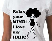 Afro T-shirt-Handscreened Original Relax your Mind T-shirt  (S,M,L,XL,1X,2X,3X) - NewTribeNewTradition