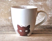 Mug Kitty Cat Mice and Fish Bones  18 oz