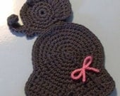 Crochet Elephant Applique Patch Trim INSTANT DOWNLOAD PDF from Thomasina Cummings Designs