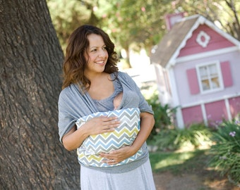Lei Wrap Baby Carrier Sling Stretchy Jersey Knit (chevron print)