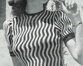 40s design- Linear Beauty- Australian style -knitting ePattern b32 b34 b36