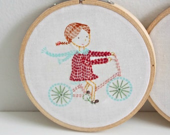 Embroidery Hoop Wall Art - Childrens Room Decor