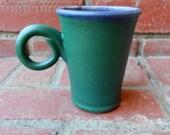 Green and Amethyst Matte Garden Mug