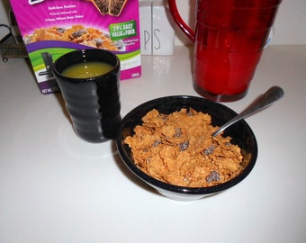Midnight Blue Breakfast Set, Cereal Bowl and Juice Cup