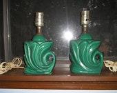 A Pair of 1940s Ceramic Lamps