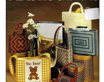 Needlepoint Totes for  Plastic Canvas Pattern Leisure Arts 173
