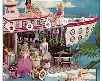 Fashion Doll Paradise Cruise Ship Plastic Canvas Pattern  Annies Attic 87S77