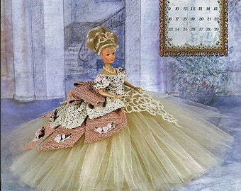 The Royal Ballgowns 1997 Master Crochet Series Miss November Crochet Pattern Book Annie Potter