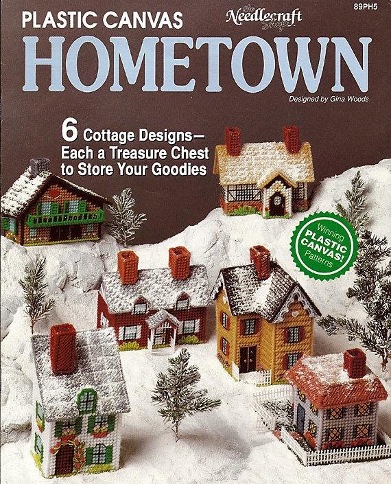 Hometown Plastic Canvas Pattern Book The Needlecraft Shop 89PH5