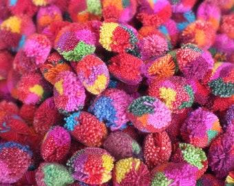 500, 20mm Handmade pom poms Yarn PomPoms - Multi colored PomPoms,lisu pompom