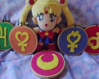 Sailor Moon 5 piece Planetary embroidery art set
