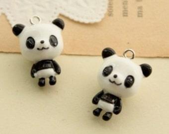 6 pcs  23 x 17 mm beautiful resin Panda cabochons Charm craft jewelry by sunshinepark99