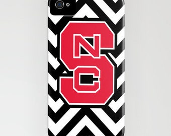 Phone Case-N.C.State Chevron for iPhone 6, 6 Plus  5/5c, 5s, 4/4s, 3gs/3s,  iPod Touch, Samsung S4, S5