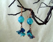 Bluebells - Czech glass earrings