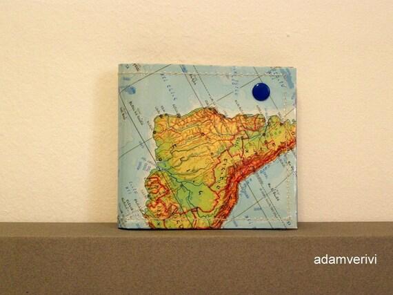 map unisex wallet