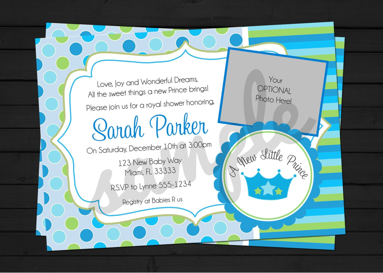 new little prince baby shower invitation digital file