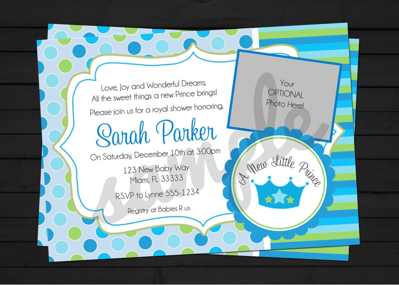 new little prince baby shower invitation digital file