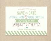 Whimsical Rustic Sage & Tiffany Blue Wedding Invite Printable Invitation OR Printed Card