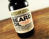 Beard Oil Olive & Rosemary Gifts for Men Beard Conditioner Made in America Completely 100% Natural Ingredients Beard Conditioner