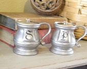 Pewter Salt and Pepper Stein Shakers