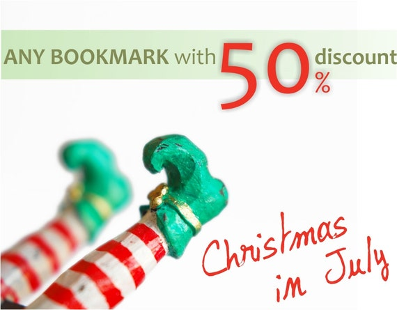 ANY BOOKmark from myBOOKmark shop with 50 percent discount. Christmas in July sale. CIJ promo