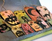 Halloween Decoration Art Tags