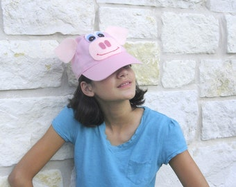 Pig pink costume accessory for child or adult. Halloween costume kid. Fun cap for child or adult. Eco friendly kid toy. Teacher gift.