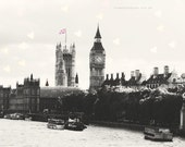 London Photograph Instant Download Vintage style Big Ben London Landmark Union Jack Heart Bokeh Large File Photography Home Wall Decor