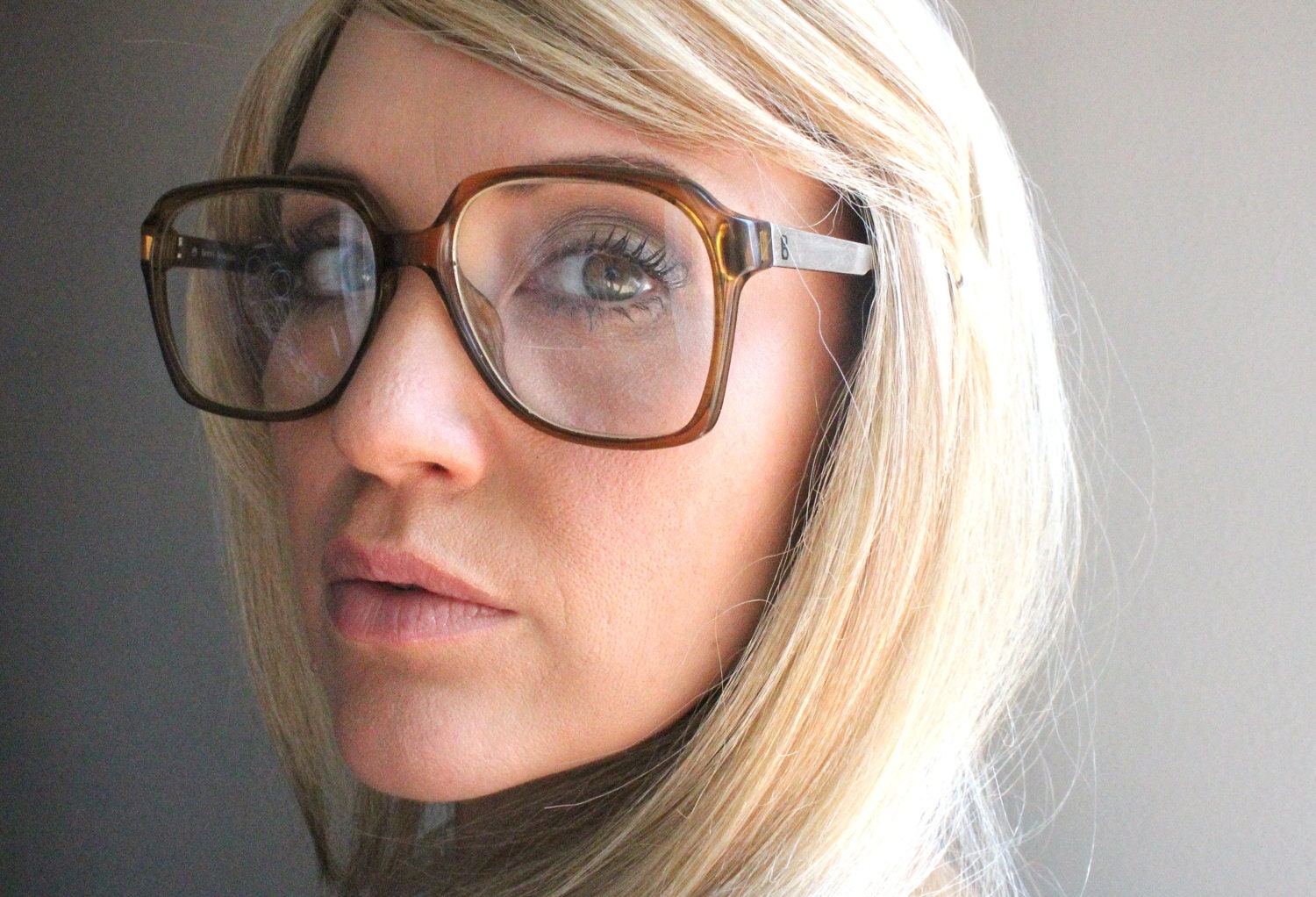 Zenni Optical Glasses Too Big : Vintage 60s Oversized Terri Brogan Eyeglass Frames