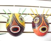 Colorful Carribean Masks- Carnival Masks- Traditional folk art- Vejigantes of Puerto Rico