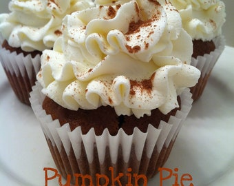 Pumpkin Pie Cupcakes-Made to Order