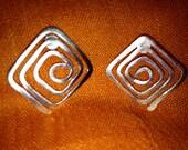 Sterling Silver Spiral Post Earrings
