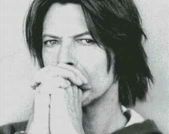 David Bowie cross stitch pattern 005