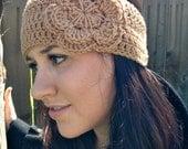 Tan Earwarmer Headband - READY TO SHIP