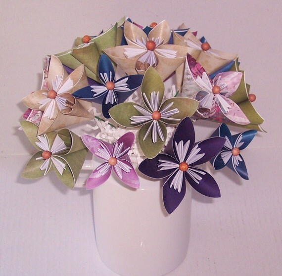 Paper Flowers, paper flower floral arrangement, thinking of you, anniversary, birthday,