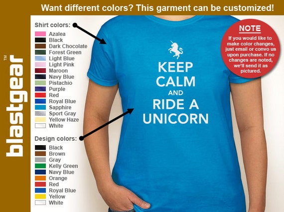 Keep Calm And Ride A Unicorn funny womens T-shirt — Any color/Any size - Adult S, M, L, XL, 2XL, 3XL
