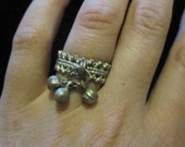 Vintage Bohemian Silver Bell Ring