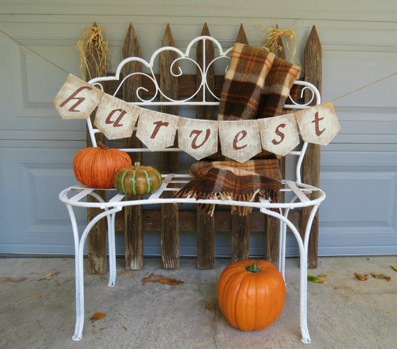 Thanksgiving Decor Burlap Banner / Photography Prop / Fall Decor